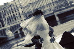 nygift person Royaltyfri Fotografi