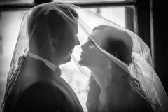 Nygifta personer Arkivfoto