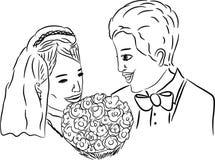 Nygifta personer Arkivbilder