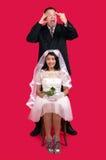 Nygifta personer Royaltyfri Foto