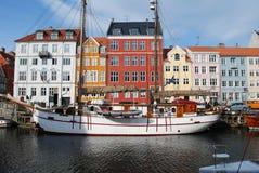 Nyhaun, Kopenhagen, Denemarken stock foto