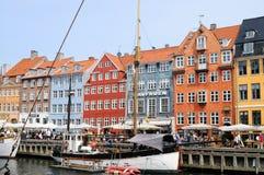 Nyhaven Waterside Copenhagen, Denmark Stock Images