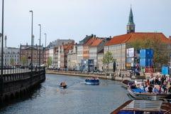 Nyhaven Waterside Copenhagen, Denmark Stock Image