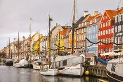 Nyhavn地区哥本哈根 免版税图库摄影