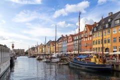 Nyhavn港口在哥本哈根,丹麦 免版税库存照片