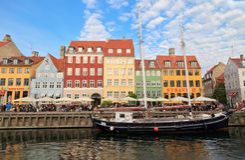 Nyhavn,哥本哈根 库存照片