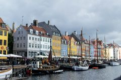 Nyhavn,新的港口,哥本哈根 库存图片