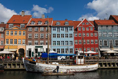 Nyhavn à Copenhague Images libres de droits