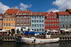 Nyhavn à Copenhague Images libres de droits