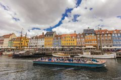 Nyhavn à Copenhague, Danemark Image stock