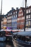 Nyhavn ή νέο λιμάνι, Κοπεγχάγη, Δανία στοκ φωτογραφία