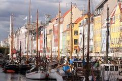Nyhavn, Копенгаген, Дания Стоковая Фотография
