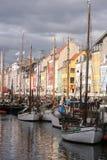 Nyhavn, Копенгаген, Дания Стоковое фото RF