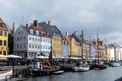 Nyhavn, новая гавань, Копенгаген стоковое изображение