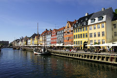 Nyhavn. In Copenhagen Stock Images