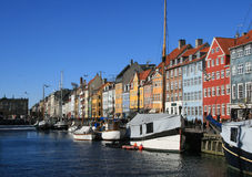 Nyhavn. Sightseeing place in Copenhagen Stock Photography