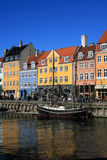 Nyhavn. Sightseeing place in Copenhagen Royalty Free Stock Photography