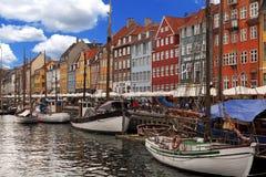 Nyhavn. Harbour in Copenhagen Denmark Stock Photography