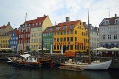 Nyhavn buntes Kopenhagen lizenzfreie stockfotografie