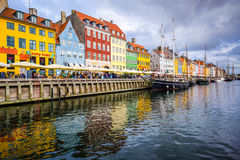 Nyhavn Canal of Copenhagen Royalty Free Stock Photos