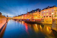 Nyhavn Canal of Copenhagen Stock Photo