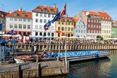 Nyhavn canal in Copenhagen Stock Image