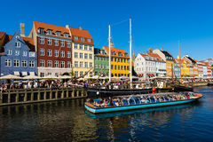 Nyhavn canal in Copenhagen Royalty Free Stock Photography