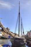 Nyhavn canal. Schooner Stock Photography