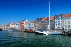 Nyhavn chanel在哥本哈根丹麦 免版税图库摄影