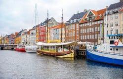 Nyhavn channel, Copenhagen Stock Photos