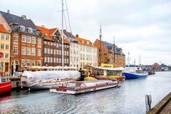 Nyhavn channel, Copenhagen Royalty Free Stock Photography