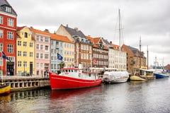 Nyhavn channel, Copenhagen Stock Image