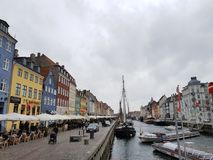 Nyhavn cloudy stock image