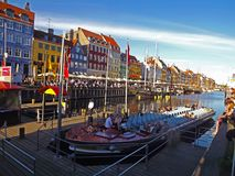 Nyhavn Copenaghen Stockbild
