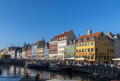 Nyhavn in copenaghen royalty free stock photos
