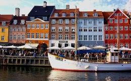 Nyhavn, Copenhaegn Royalty Free Stock Photo