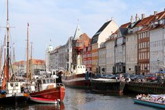 Nyhavn, Copenhaga Foto de Stock Royalty Free