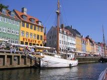Nyhavn Copenhaga Imagem de Stock Royalty Free