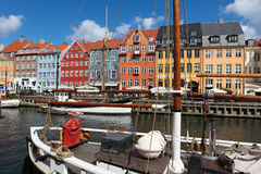 Nyhavn in Copenhagen Royalty Free Stock Photo