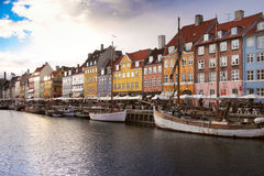 Nyhavn Copenhagen Stock Photography