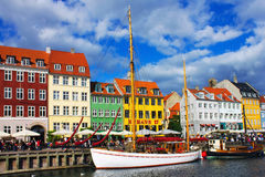 Nyhavn in Copenhagen Stock Photo