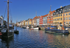 Nyhavn in Copenhagen. Denmark royalty free stock photography