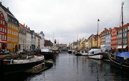 Nyhavn in Copenhagen, Denmark Royalty Free Stock Images