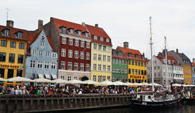 Nyhavn in Copenhagen Stock Images