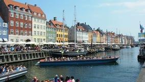 Nyhavn Copenhagen Denmark stock video