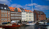 Nyhavn in Copenhagen Royalty Free Stock Photos