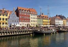 Nyhavn in Copenhagen, Denmark. On a sunny day royalty free stock photo