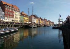 Nyhavn in Copenhagen, Denmark. On a sunny day royalty free stock image