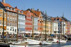 Nyhavn, Copenhagen harbor Royalty Free Stock Photography