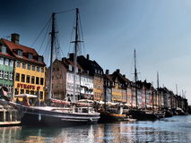 NYHAVN, COPENHAGEN. Harbour of Nyhavn, Copenhagen, Denmark Royalty Free Stock Photography